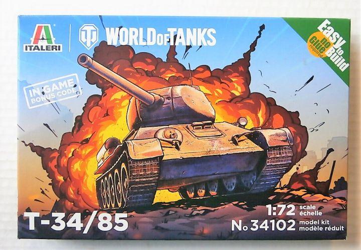 ITALERI 1/72  34102 T-34/85 SOVIET TANK