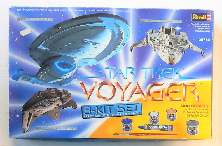 REVELL  05780 STAR TREK VOYAGER 3-KIT SET