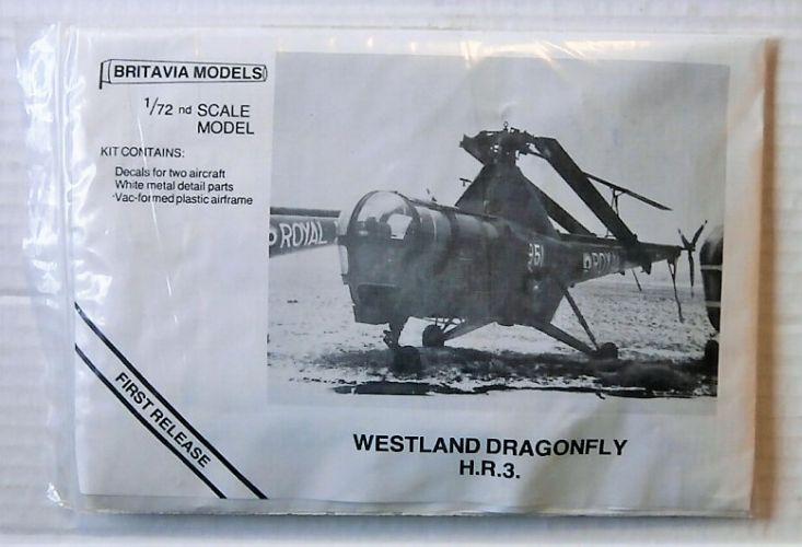 BRITAVIA MODELS 1/72 WESTLAND DRAGONFLY H.R.3