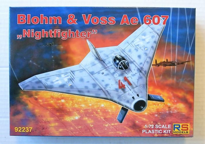 RS MODELS 1/72 92237 BLOHM   VOSS AE-607 NIGHTFIGHTER
