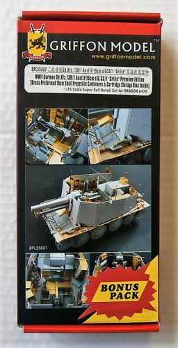 GRIFFON MODEL 1/35 BPL35007 WWII GERMAN SD.KFZ.138/1 AUSF.H 15CM SIG.33/1 GRILLE PREMIUM EDITION