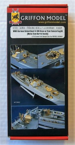 GRIFFON MODEL 1/72 N72002 WWII GERMAN SCHNELLBOOT S-100 CLASS W/2CM FLAKVIERLING 38