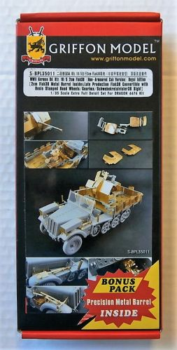 GRIFFON MODEL 1/35 S-BPL35011 WWII GERMAN SD.KFZ. 10/5 2CM FLAK 38  NON-ARMOURED CAB VERSION  ROYAL EDITION