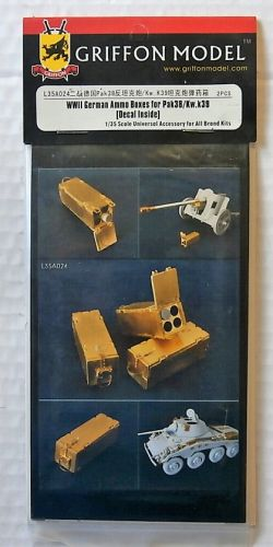 GRIFFON MODEL 1/35 L35A024 WWII GERMAN AMMO BOXES FOR PAK 38/ KW.K39