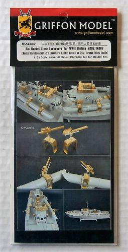 GRIFFON MODEL 1/35 N35A002 2 INCH ROCKET FLARE LAUNCHERS FOR WWII BRITISH MBT/MGB