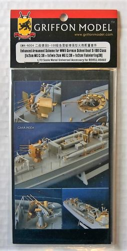 GRIFFON MODEL 1/72 GMA-N004 ENHANCED ARMAMENT SCHEME FOR WWII GERMAN SCHNELLBOOT S-100 CLASS