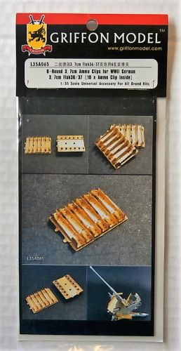 GRIFFON MODEL 1/35 L35A065 6-ROUND 3.7CM AMMO CLIPS FOR WWII GERMAN 3.7CM FLAK 36/37