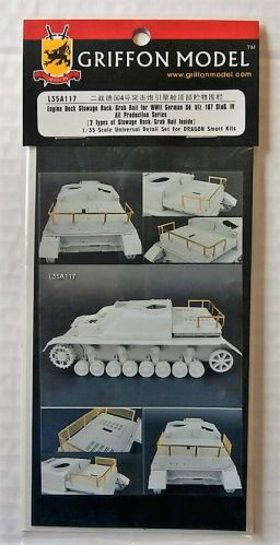 GRIFFON MODEL 1/35 L35A117 ENGINE DECK STOWAGE RACK/GRAB RAIL FOR WWII GERMAN SD.KFZ.167 STUG.IV ALL PRODUCTION SERIES