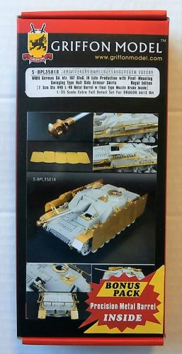 GRIFFON MODEL 1/35 S-BPL35018 WWII GERMAN SD.KFZ.167 STUG IV LATE PROD PIVOT-MOUNTING SWINGING TYPE HULL SIDE ARMOUR SKIRTS
