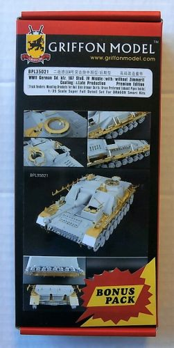 GRIFFON MODEL 1/35 BPL35021 WWII GERMAN SD.KFZ.167 STUG IV MIDDLE   LATE PROD PREMIUM EDITION