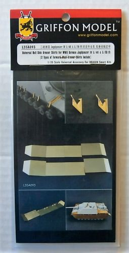 GRIFFON MODEL 1/35 L35A093 UNIVERSAL HULL SIDE ARMOUR SKIRTS FOR WWII GERMAN JAGDPANZER IV L/48   L/70 v