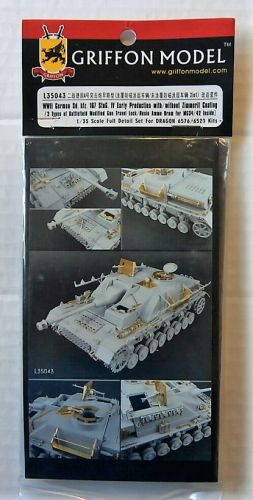 GRIFFON MODEL 1/35 L35043 WWII GERMAN SD.KFZ 167 STUG IV EARLY PROD WITH/WITHOUT ZIMMERIT COATING