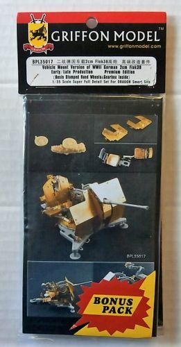 GRIFFON MODEL 1/35 BPL35017 VEHICLE MOUNT VERSION OF WWII GERMAN 2CM FLAK 38 EARLY/LATE PROD PREMIUM EDITION
