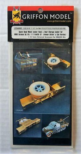 GRIFFON MODEL 1/35 L35a083 SPARE ROAD WHEEL LOCKER/RACK   REAR STORAGE LOCKER FOR WWII GERMAN SD.KFZ.7/2 FLAK 36/37