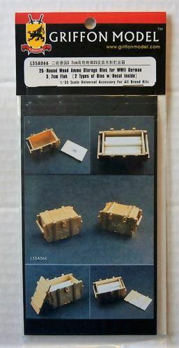 GRIFFON MODEL 1/35 L35A066 25-ROUND WOOD AMMO STORAGE BINS FOR WWII GERMAN 3.7CM FLAK