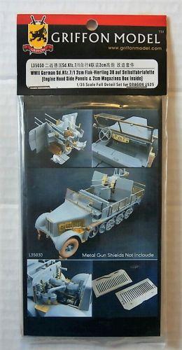GRIFFON MODEL 1/35 L35030 WWII GERMAN SD.KFZ.7/1 2CM FLAK-VIERLING 38 AUF SELBSTFAHRLAFETTE