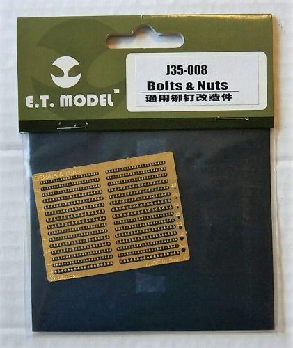 E.T. MODEL 1/35 J35-008 BOLTS   NUTS
