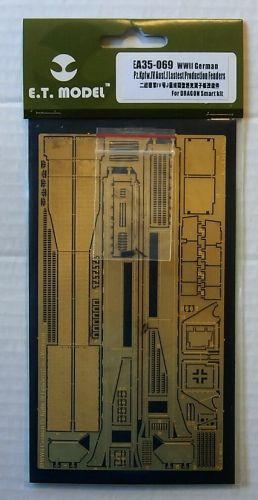 E.T. MODEL 1/35 EA35-069 WWII GERMAN PZ.KPFW.IV AUSF.J LAST PRODUCTION FENDERS