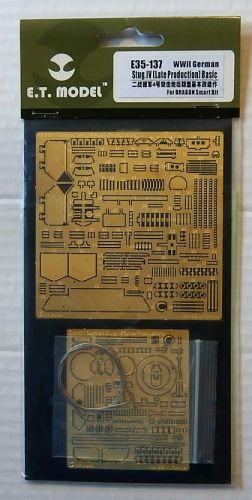 E.T. MODEL 1/35 E35-137 WWII GERMAN STUG IV LATE PROD BASIC