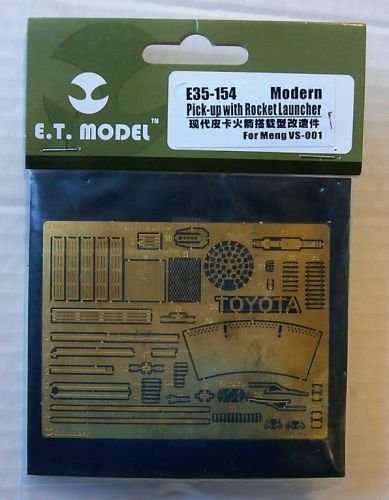 E.T. MODEL 1/35 E35154 MODERN PICK-UP WITH ROCKET LAUNCHER