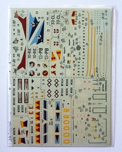 MODELDECAL 1/72 2337. 88 ROYAL AIR FORCE METEORS AND ARMEE DE L AIR MIRAGES