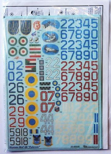 1/32 2353. BEGEMOT 32-003 MIKOYAN MIG-29 FULCRUM