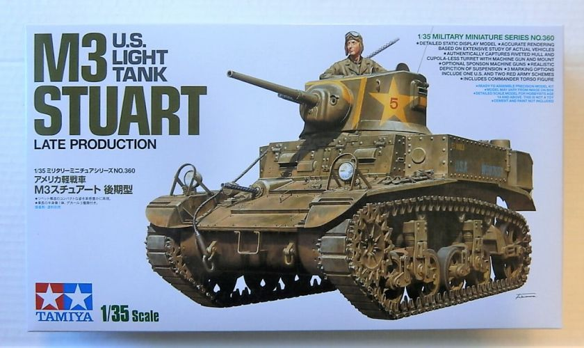 TAMIYA 1/35 35360 U.S. LIGHT TANK M3 STUART LATE PRODUCTION