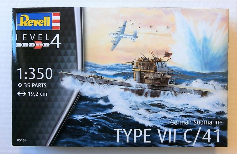 REVELL 1/350 05154 GERMAN SUBMARINE TYPE VII C/41