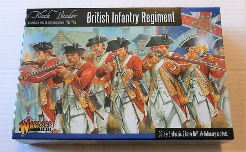 WARLORD 28 mm AW1 BRITISH INFANTRY REGIMENT AMERICAN WAR OF INDEPENDENCE 1776-1783