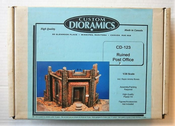 CUSTOM DIORAMICS 1/35 CD-123 RUINED POST OFFICE  UK SALE ONLY