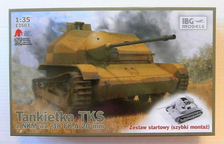 IBG MODELS 1/35 E3503 TANKIETKA TKS Z NKM WZ.38 FK-A 20mm