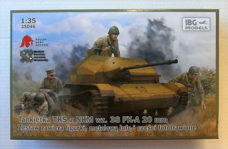 IBG MODELS 1/35 35046 TANKIETKA TKS Z NKM WZ.38 FK-A 20mm