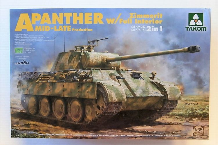 TAKOM 1/35 2100 PANTHER A MID-LATE PRODUCTION W/ ZIMMERIT    FULL INTERIOR