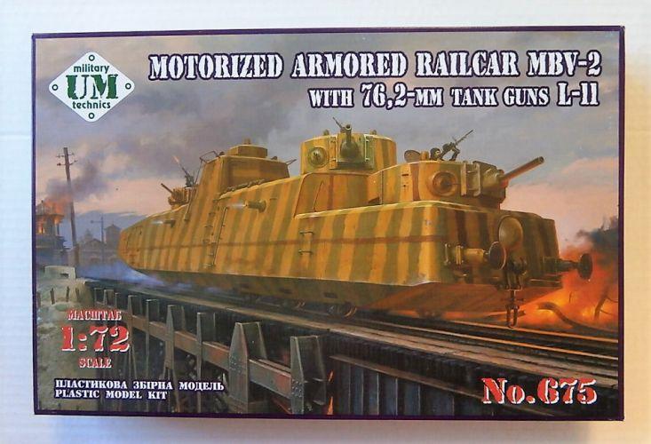 UM-MT 1/72 675 MOTORIZED ARMOURED RAILCAR MBV-2