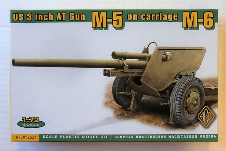 ACE 1/72 72531 M-5 US 3 INCH AT GUN ON CARRIAGE  LATE