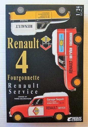 EBBRO 1/24 25012 RENAULT 4 FOURGONNETTE RENAULT SERVICE VAN