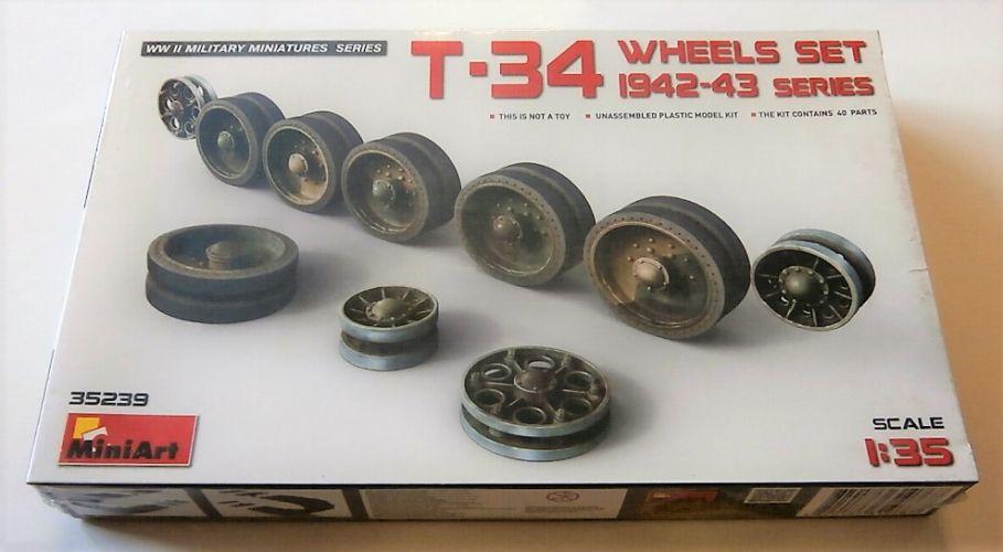 MINIART 1/35 35239 T-34 WHEELS SET 1942-43 SERIES