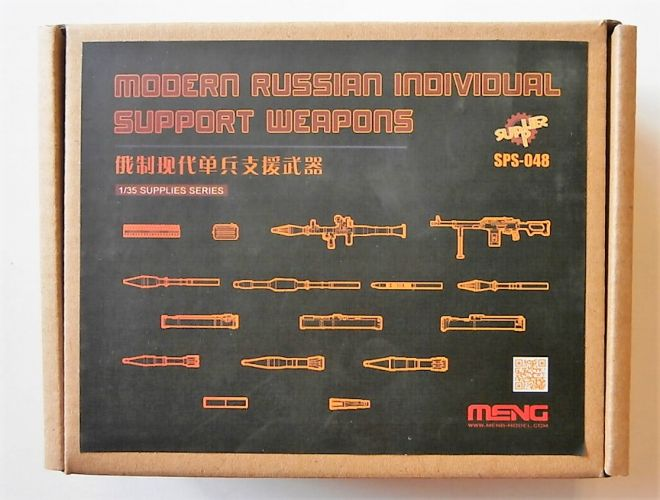 MENG 1/35 SPS-048 MODERN RUSSIAN INDIVIDUAL SUPPORT WEAPONS