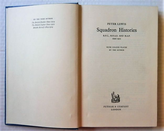 CHEAP BOOKS  ZB3015 SQUADRON HISTORIES RFC RNAS   RAF SINCE 1912