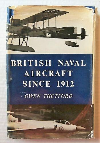 CHEAP BOOKS  ZB3017 BRITISH NAVAL AIRCRAFT SINCE 1912 - OWEN THETFORD