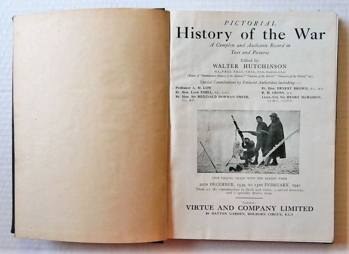 CHEAP BOOKS  ZB3045 PICTORIAL HISTORY OF THE WAR Vol III