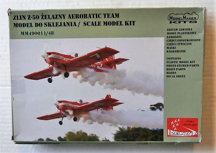 MODEL MAKER DECALS 1/48 49001 ZLIN Z-50 ZELAZNY AEROBATIC TEAM