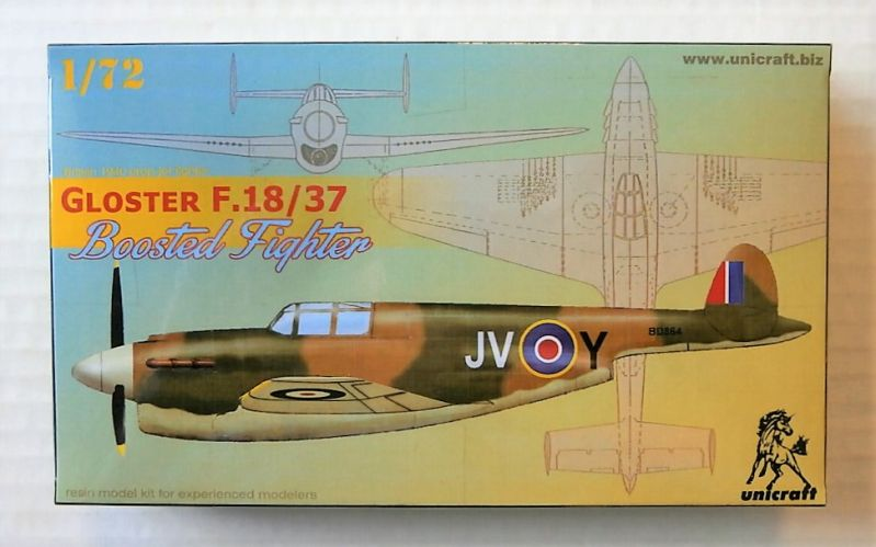 UNICRAFT 1/72 GLOSTER F.18/37 BOOSTED FIGHTER