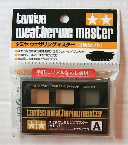 TAMIYA  87079 WEATHERING MASTER A SET - SAND/LIGHT SAND/MUD
