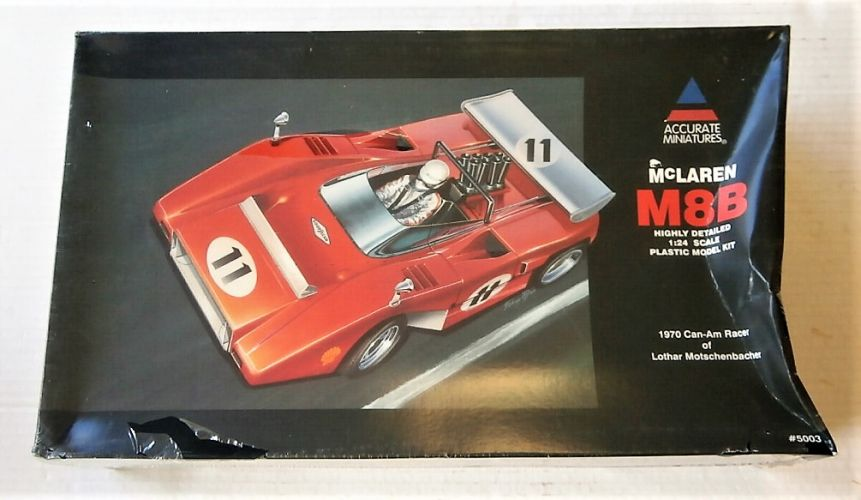ACCURATE MINIATURES 1/24 5003 MCLAREN M8B 1970 CAN-AM RACER OF LOTHAR MOTSCHENBACHER