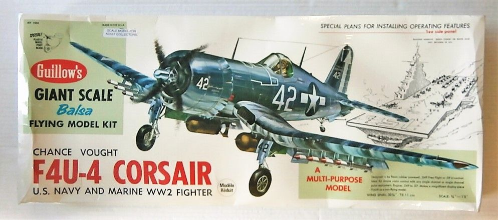 GUILLOWS 30 3/4 INCH WING SPAN 1004 VOUGHT F4U-4 CORSAIR  UK SALE ONLY