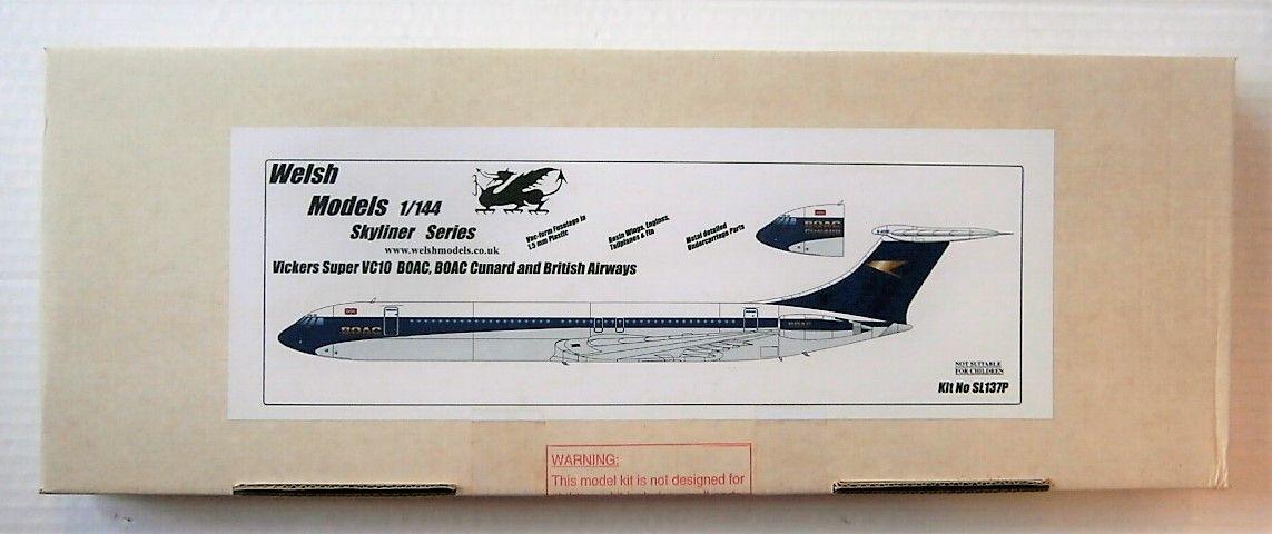 WELSH MODELS 1/144 SL137P VICKERS SUPER VC10 BOAC/ BOAC CUNARD/ BRITISH AIRWAYS