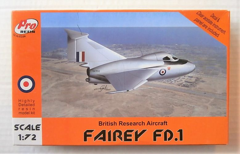 PRO RESIN 1/72 72044 FAIREY FD.1