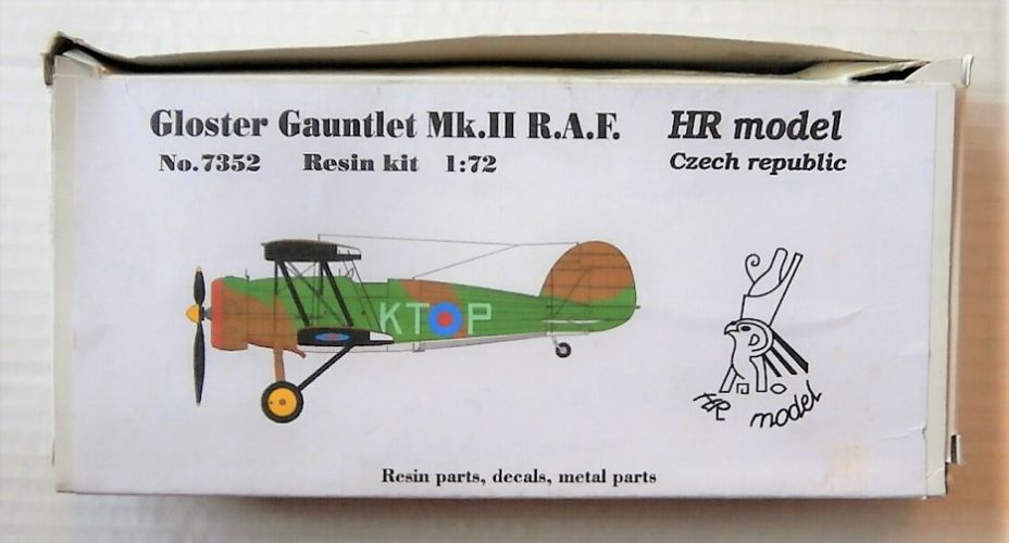 HR MODEL 1/72 7352 GLOSTER GAUNTLET MK.II R.A.F.