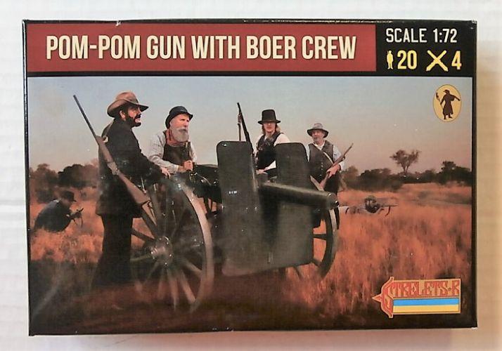 STRELETS 1/72 188 POM-POM GUN WITH BOER CREW ANGLO/ BOER WAR